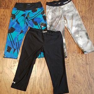 Bundle Under Armour Asus Nike Pro leggings small